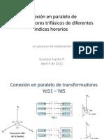 Conexion en paralelo de transformadores trifasicos de diferentes indice horario.pptx