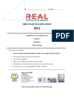 Add Maths Form 5 Paper 1 Midterm 2012