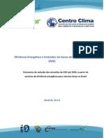 Estudo da Eficiência Energética e Emissões de Gases GEE