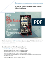 Electrical-Engineering-portal.com-Sizing the DOL Motor Starter Parts Contactor Fuse Circuit Breaker and Thermal Overload Relay