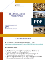 2. El Mundo Andino Prehispánico - El Tahuantinsuyo