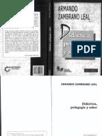 Didáctica, Pedagogía y Saber