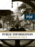 2014 Texas Public Information Handbook