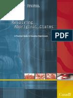 Resolving Aboriginal Land Claims