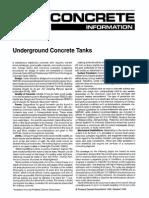 Underground Concrete Tanks