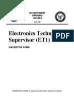 US Navy Training Course - Electronics Technician Supervisor ET1