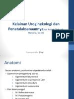 K32 - Kelainan Uroginekologi Dan Penatalaksanaannya - Dr. Hardjono, Sp. OG
