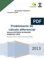 Problemario de Cálculo Diferencial