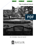Baylor Graduate Catalog 2013-2014