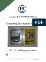 PH Analyser Manual PH-13-S