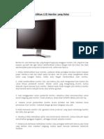 Tips Cara Membersihkan LCD Monitor Yang Kotor