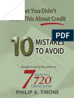 10_Mistakes You Need to Know About Your Credit