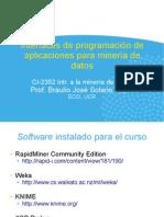 3. Interfaces de Programación de Aplicaciones Para Minería de Datos