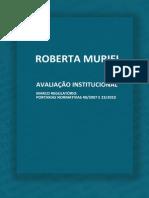 Avaliação Institucional - Roberta Muriel