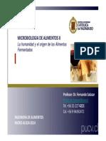MICRO 324 Clase 2 3 4 - La Humanidad y El Origen de Los Alimentos Fermentados 11082014 1308201418082014