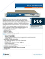 Comtech/EFData CDD880 Data Sheet