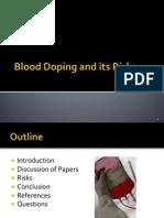 Blood Doping PPT Presentation