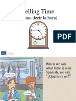spanish 1 telling time in spanish