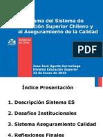 Panorama Del Sistema de Educacion Superior Chileno y El Aseguramiento de La Calidad