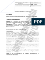 Depre-3.6-8 Procedimiento Programas de Limpieza y Desinfeccion