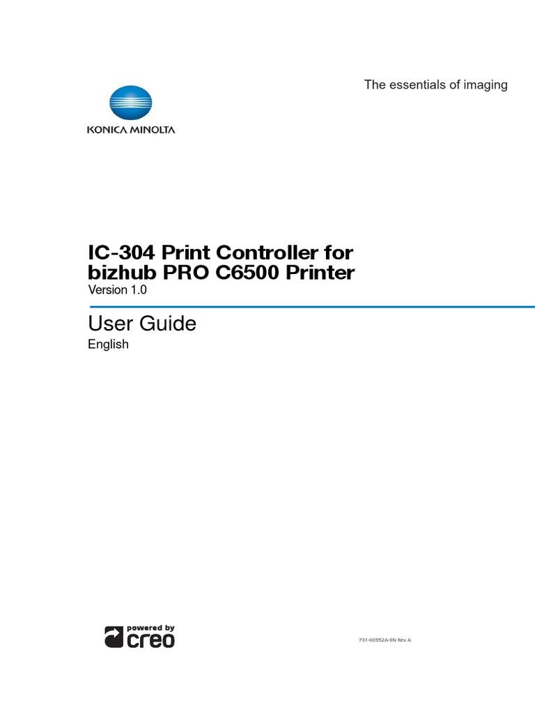 Bizhub PRO c6500 IC-304 User Guide   Microsoft Windows   Finder (Software)