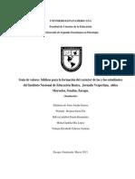 Guía de Valores Bíblicos Para La Formación Del Carácter de Las y Los Estudiantes Del Instituto N