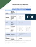 Niveles de Organización en Los Seres Vivos (Autoguardado)