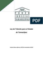 Ley de Transito Para El Estado de Tamaulipas