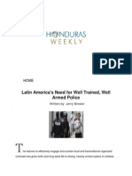Latin America's Need for Well Trained, Well Armed Police
