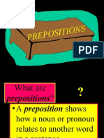 Prepositions Abridged