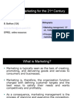 Cours 1 - Defining Marketing