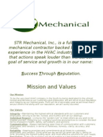 STR Mechanical, Inc., Is a Full Service Mechanical Contractor Backed