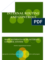 Internal Routine and Controls