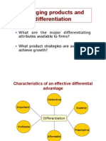 Cours 5 - Managing Products & Differentiation