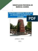 Politica Ambiental Local - MPMCJ