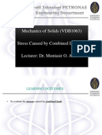6. Stress Caused by Combined Loadings