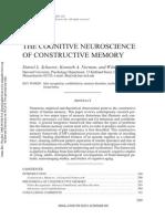 Schachter Cognitive Neurosci of Constructive Memory