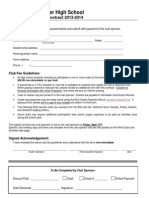 Club Fee Contract (Downloadable Here)