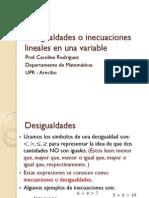 Desigualdades Lineales en Una Variable-ckr