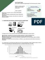 Simulado 9ºAno-8ªSérie 2010- SARESP GABARITO Na Última Página