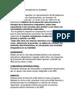 Declaracion de Salamanca