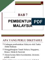 bab 7 - pembentukan malaysia
