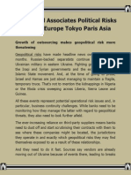 Elliott and Associates Political Risks Review Europe Tokyo Paris Asia