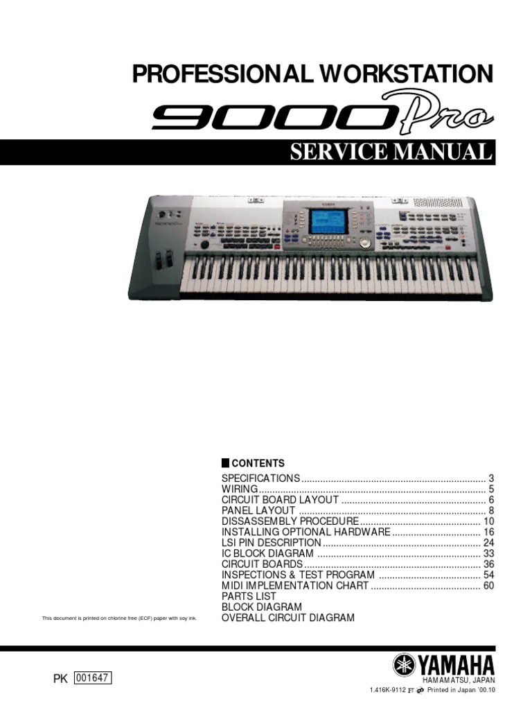 Yamaha 9000 Pro Service Manual Electrical Connector Electronics Fc5 Pedal Wiring Diagram