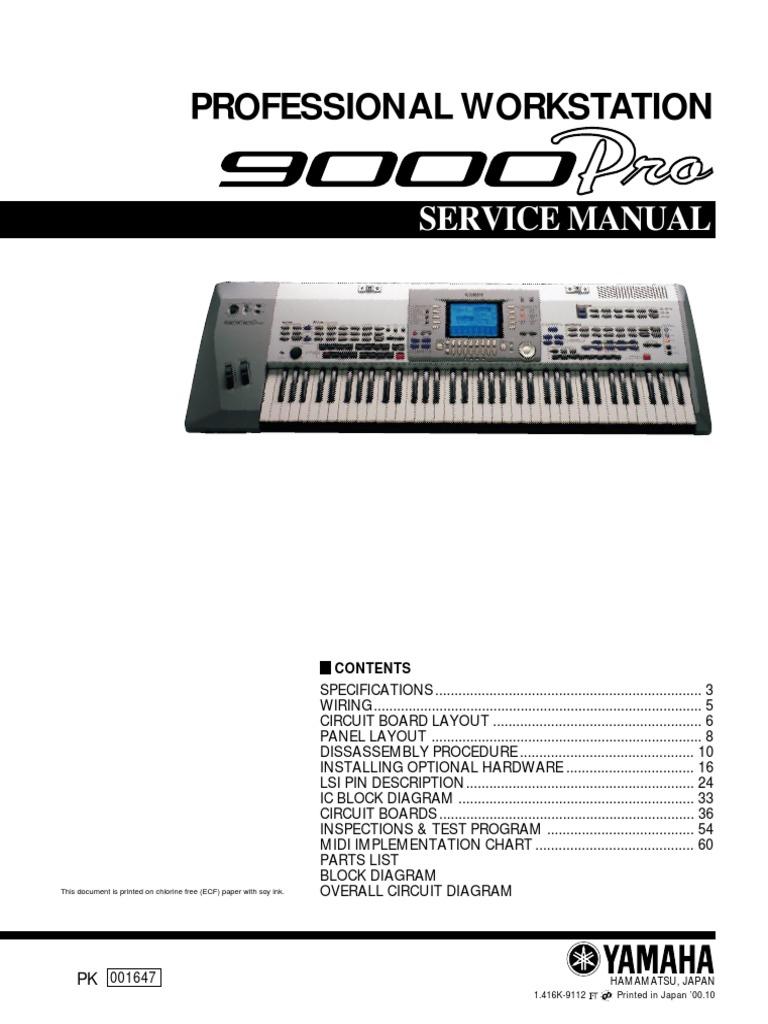 YAMAHA 9000-Pro Service Manual   Electrical Connector   Electronics