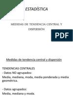 Clase II - Medidas de Tendencia Central y Dis Persión