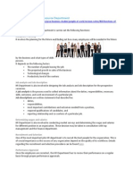 Functions of Human Resource Department