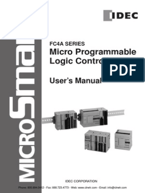 IDEC MicroSmart Manual | Input/Output | Computer Data Storage on