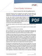 Sample Cost of Quality Calculations