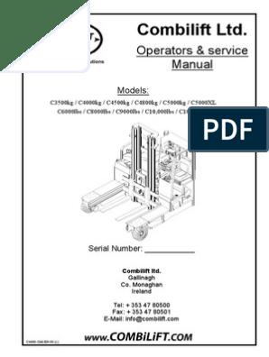 Combilift Ltd  Operators & service Manual  | Elevator | Truck